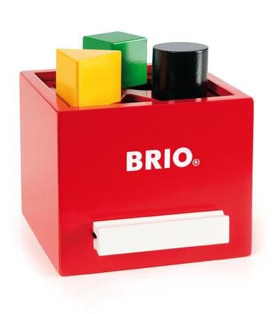 BRIO(ブリオ)形合わせボックス(レッド)