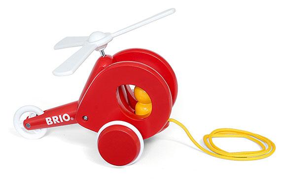 BRIO(ブリオ)プルトイ ヘリコプター(赤)