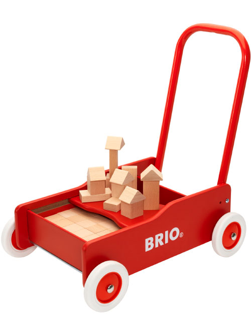 BRIO(ブリオ)ブロック50ピース付手押し車