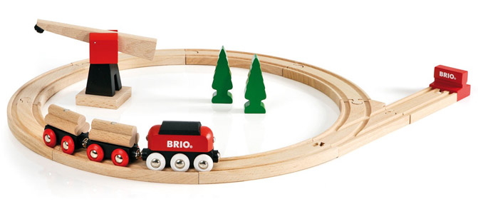 BRIO(ブリオ)クラシックレール貨物輸送セット