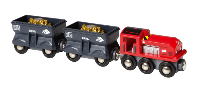 BRIO(ブリオ)ゴールド輸送トレイン