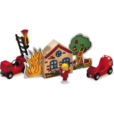 BRIO(ブリオ)消防車セット
