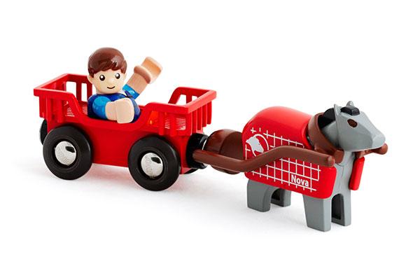 BRIO(ブリオ)馬とワゴン