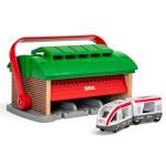 BRIO(ブリオ) ハンドル付き列車車庫