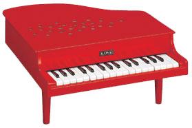 河合楽器(カワイ)ミニピアノP-32(赤)