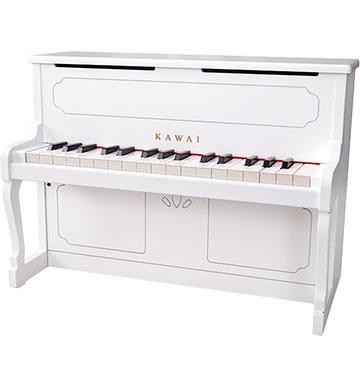 河合楽器(カワイ)アップライトピアノ ホワイト