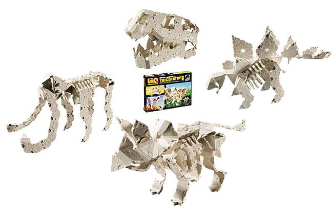 LaQ(ラキュー)恐竜骨格シリーズトリケラトプスセット