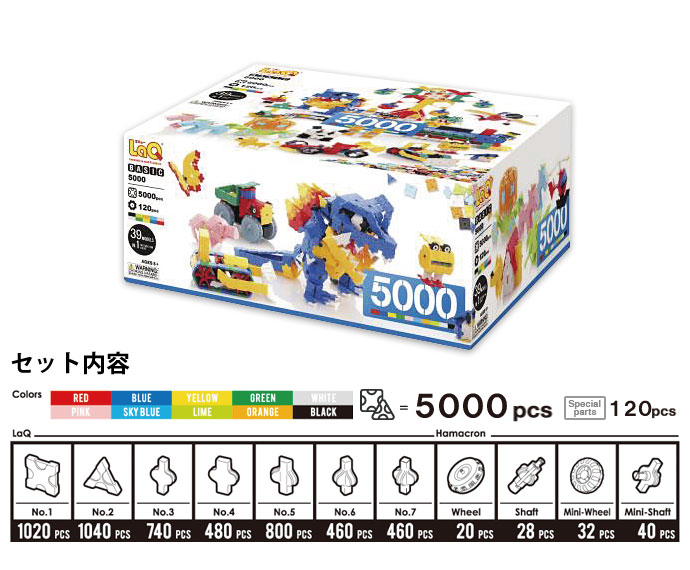 LaQ(ラキュー)ベーシック5000