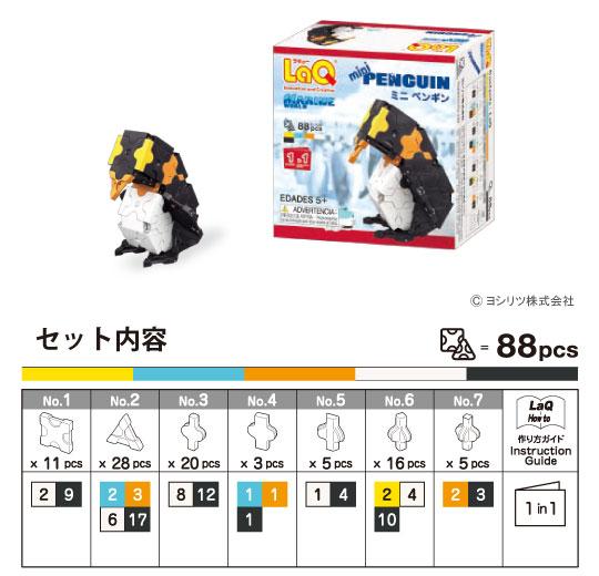 LaQ(ラキュー)マリンワールド ミニ ペンギン