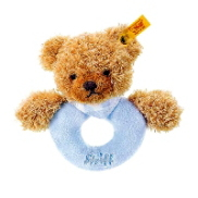 Steiff(シュタイフ)Sleep well bear grip toy ブルー