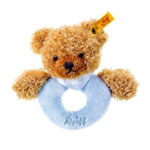 Steiff(シュタイフ) Sleep well bear grip toy ブルー