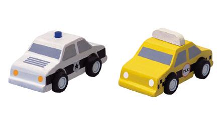 PLANTOYS(プラントイ)タクシーとパトカー