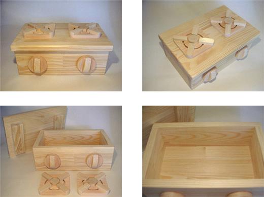SayWoodwork(セイウッドワーク)コンロ台型おもちゃ箱GD-1