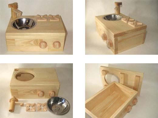 SayWoodwork(セイウッドワーク)シンク・コンロ台型おもちゃ箱SD-1