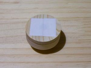 コンロコックパーツ裏面への両面テープ貼りつけ