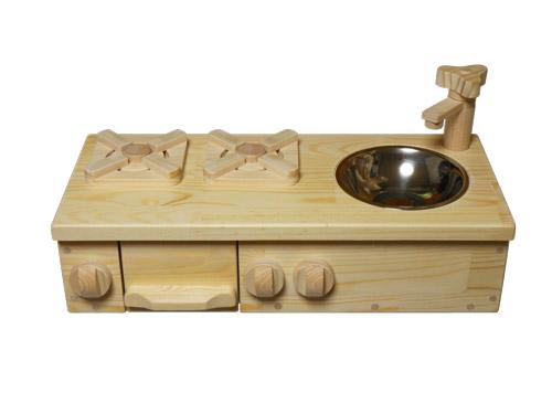 魚焼き器付きオーダーメイド卓上ままごとキッチン