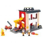 ブリオ 33833 木のレールおもちゃ追加パーツ「ファイヤーステーション」